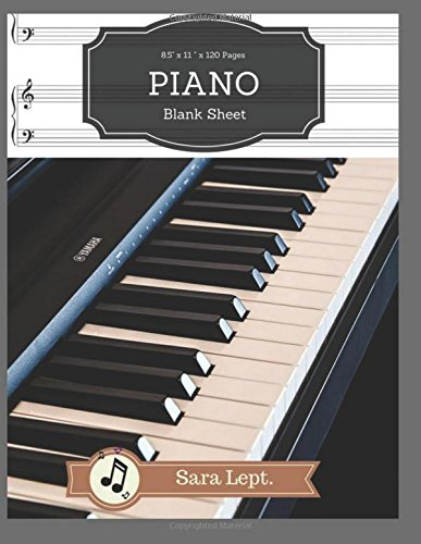 Piano Blank Sheet for Writing Record Happiness Music Paper 120 Page Sheet: For Musicians, Students, Songwriting, Book Note Journal  V.2 (Music Writing Note) (Volume 2)