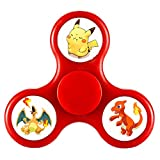 FUY-WG6 Fidget Spinner Pokemon Go Team INSTINCT VALOR MYSTIC Team YELLOW RED BLUE Tri-Spinner High Speed Spin - Perfect For ADD ADHD Anxiety and Autism Adult Children