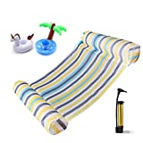 Tripirit Water Hammock, Swimming Pool Water Hammock Lounge Float Hammock Inflatable Raft Swimming Pool Lounger Air Lightweight Floating Chair and Float Swimming Pool Lounger for adults/Kids Colorful