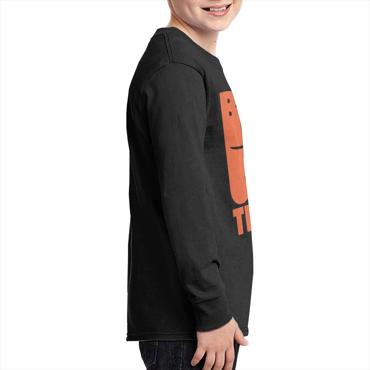 Teenagers Teen Boy Vintage Bull Terrier Printed Long Sleeve 100/% Cotton Tee Shirt