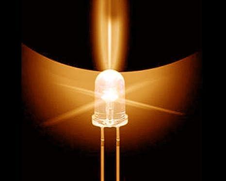 50 pack Amber 3mm LED Bulb