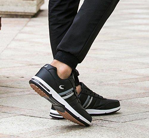 para Hombres de de Seasons Zapatos Size Viaje Hombre de Calzado Deportivo Cómodos Senderismo Zapatos para Four Ligeras de Deporte de EU Zapatillas Deporte Gran Zapatillas Tamaño Negro New wPq1xx