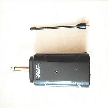 Lorenlli Sistema receptor de transmisor de audio inalámbrico portátil para guitarra eléctrica bajo violín eléctrico instrumento