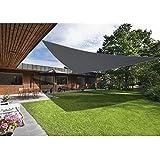 Green Bay. Toldo protector solar para patio o jardín, 98% bloqueador de rayos UV, forma triangular, en 3 tamaños, color antracita