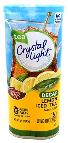 Crystal Light Lemon Decaf Iced Tea Natural Flavor Drink Mix, 12-Quart Canister (Pack of 6) (Crystal Light Iced Tea)