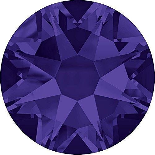Flat Back Crystal Purple Velvet (2000, 2058 & 2088 Swarovski Flatback Crystals Non Hotfix Purple Velvet | SS5 (1.8mm) - Pack of 50 | Small & Wholesale Packs | Free Delivery)