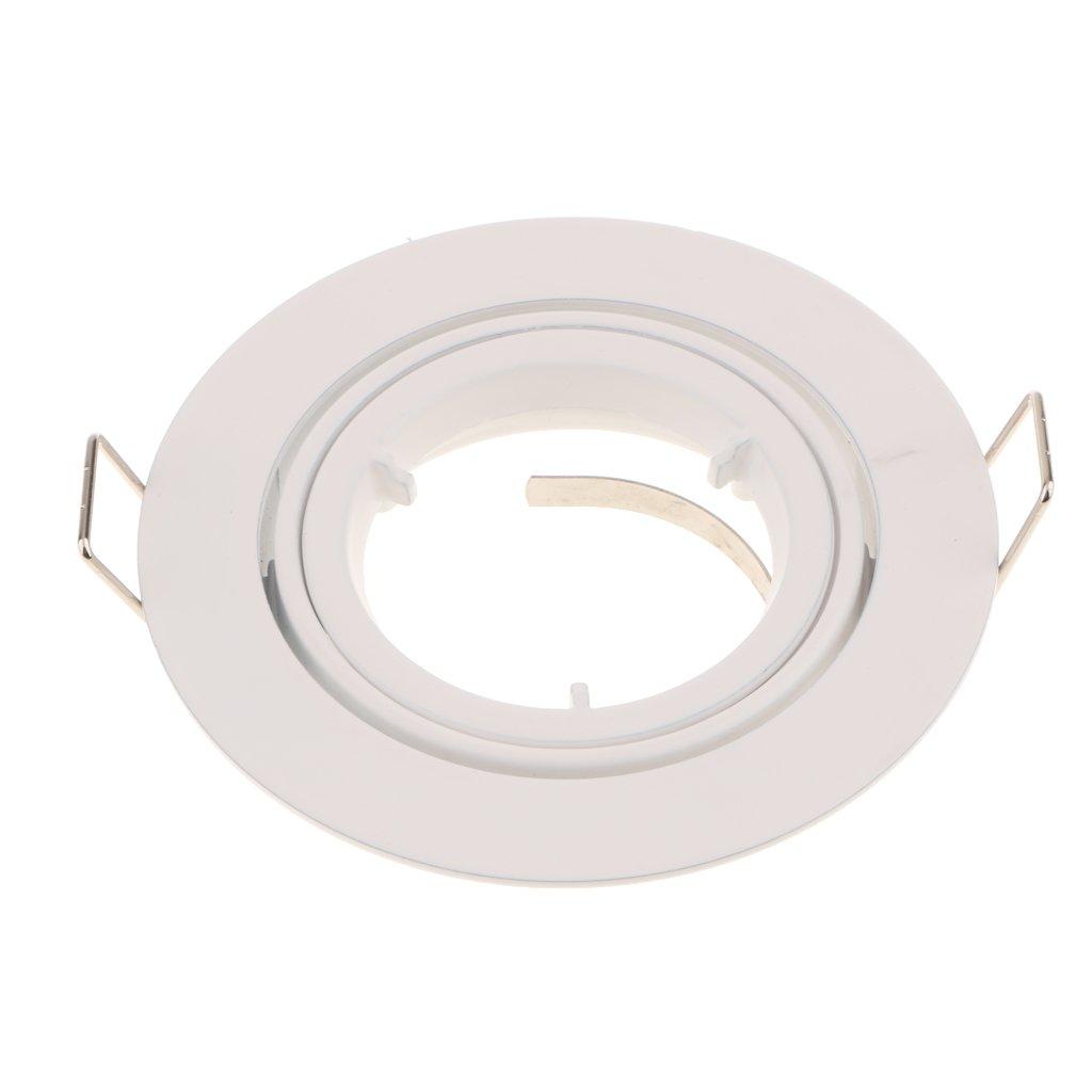 Jili online mr16 gu10 recessed light holder retrofit ceiling lighting fixture 50w 110 220v adjustable clips white amazon com