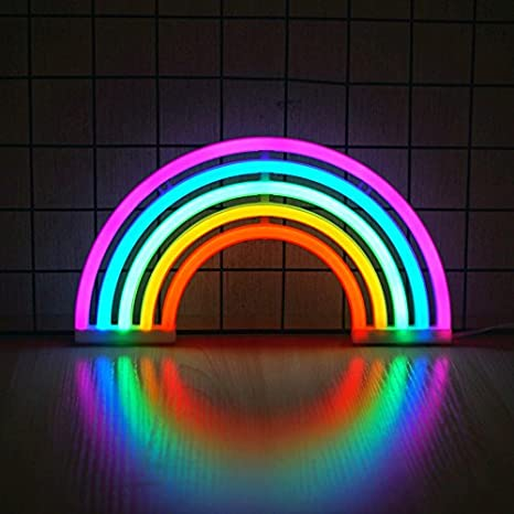LED Rainbow Night Light For Baby Children Amazing Colorful Room Decor