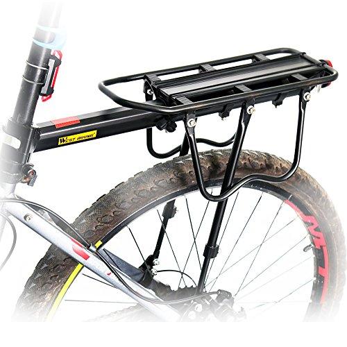 West Biking 110 Lb Capacity Almost Universal Adjustable Bike Luggage Cargo Rack Bicycle Accessories Equipment