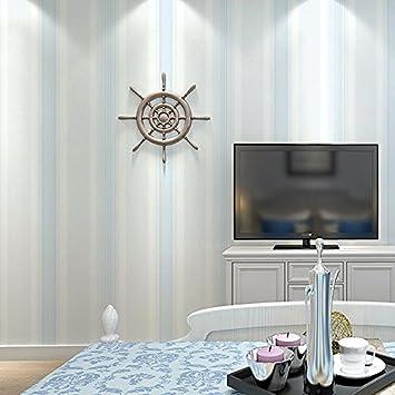 HUANGYAHUI Modernes, Minimalistisches Mediterrane Non Woven Stoff,  Vertikale Streifen, Tapeten, Wohnzimmer