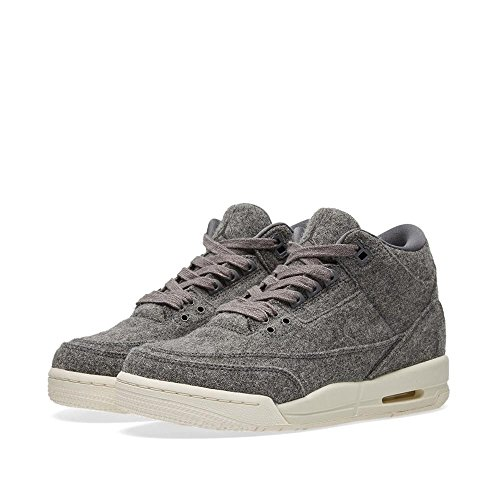 Nike Boys Jordan 3 Retro Wool BG Dark Grey Wool Size 3.5Y