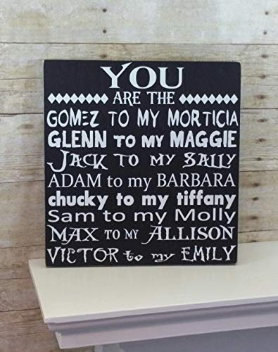 Halloween Sign - You are the. Scary Movie Edition - Anniversary Gift for Him - Wedding Gift or Decor! -