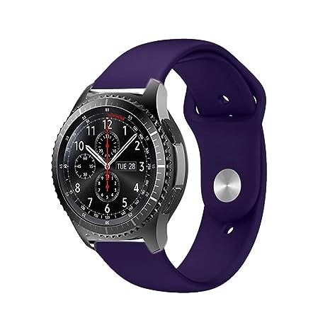 BarRan Huawei Watch GT Bracelet, 22MM Quick Release Bande en TPU Silicone Souple de Remplacement