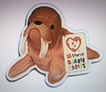 Tusk the Walrus Collectible Beanie Baby Pin from McDonalds 2000 by Ty