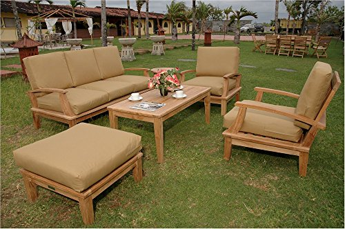 Anderson Teak Set (Anderson Teak Set-41 4 Piece Brianna Deep Seating Teak Outdoor)