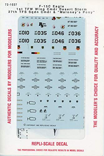 Repli Scale Decal 1:72 F-15 C Eagle 1st TFW Wing Cmdr for sale  Delivered anywhere in USA