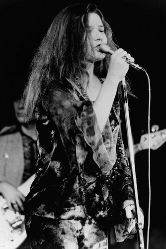 Janis Joplin 1960's in concert singing b/w 24x36 Poster, used for sale  Delivered anywhere in USA