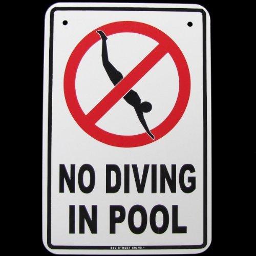 Danger No Diving Swimming Pool Hot Tub Tin Warning Sign