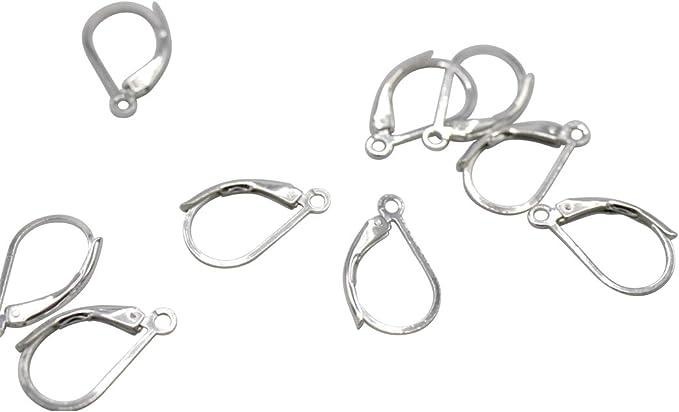12pcs French LeverBack Earrings Earwire Hooks Findings Jewellery Making 14mm