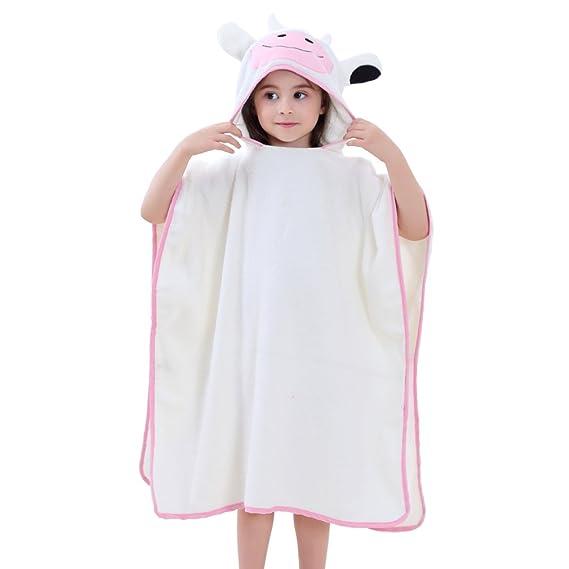 85fdd6962a569 MICHLEY Bebe Garcon Peignoir Capuche Poncho Peignoir Bain Enfant Animal 100%  Coton Serviette de Bain