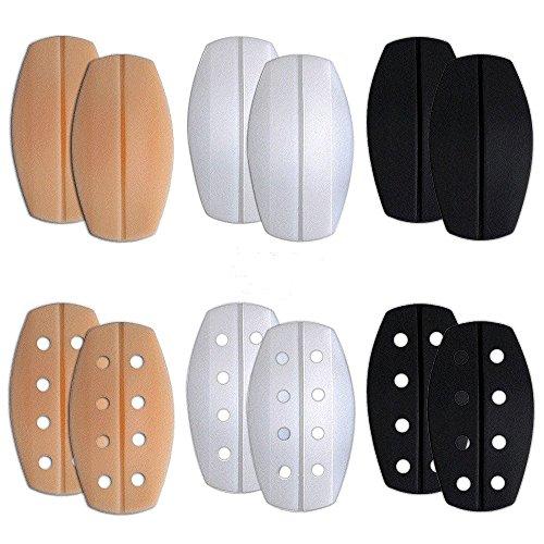 BTHEONE [6-Pairs] Elastic Soft Silicone Bra Strap Cushions Holder Non-Slip Shoulder Pads