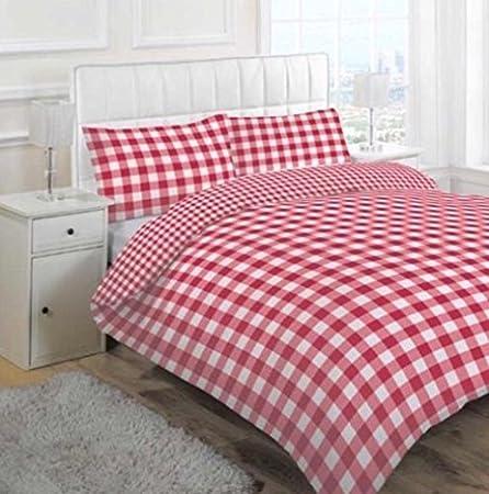 Red gingham bedding