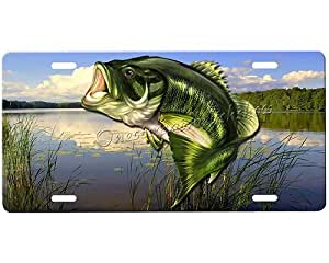 Bass license plate automotive for Ms fishing license