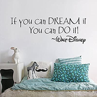 FairyTeller If You Can Dream It You Can Do It Inspiring Quotes Wall Stickers Home Art Decor Decal Mural Wall Stickers For Kids Rooms