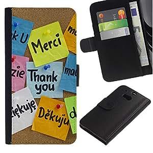 LECELL--Cuero de la tarjeta la carpeta del tirón Smartphone Slots Protección Holder For HTC One M8 -- Gracias Idiomas --