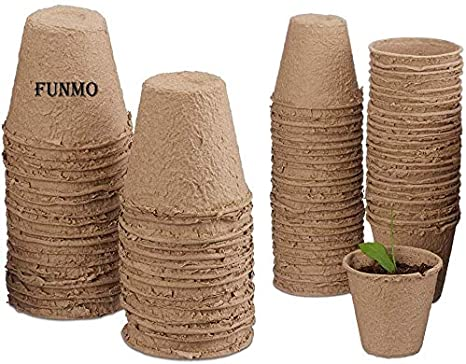 Litthing 20 Pcs Macetas Biodegradables para Flores Planta Semilleros Pote con Etiquetas Macetas de Turba para Pl/ántulas Jardiner/ía Plantas Botes Ecol/ógicas
