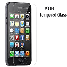 [1-Pack] iPhone 5S/SE/5C/5 Screen Protector,iBarbe iPhone Se Glass Screen Protector,Transparent Tempered Glass Screen Protector Film 9H hardness(0.26mm HD Ultra Clear)