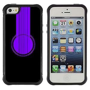 Be-Star único patrón Impacto Shock - Absorción y Anti-Arañazos Funda Carcasa Case Bumper Para Apple iPhone 5 / iPhone 5S ( Purple Headphones )