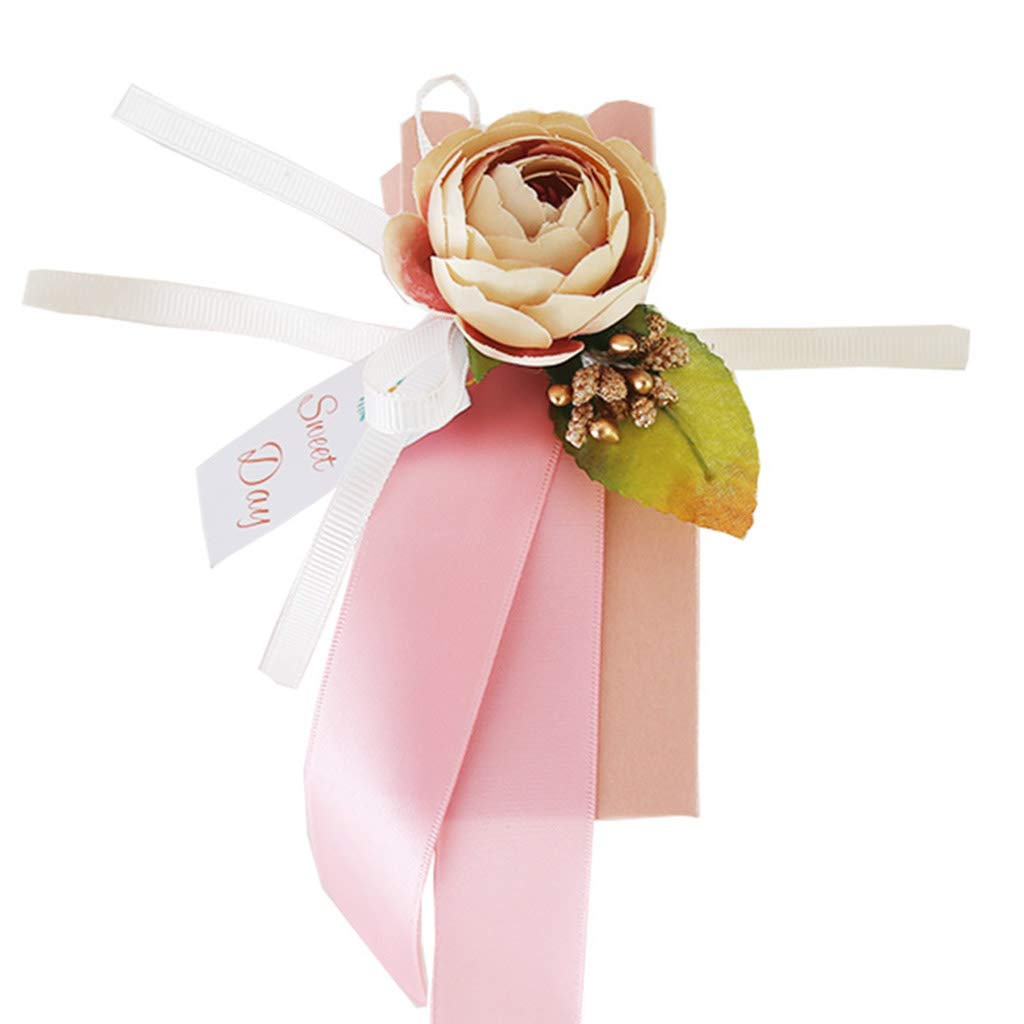 100pcs Wedding Favour Boxes, Sweet Gift Candy Boxes Ideal for Wedding Party Bridal Shower Use Pink 150pcs