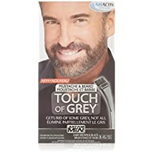 Touch of Grey Just for Men Mustache and Beard, Dark Black