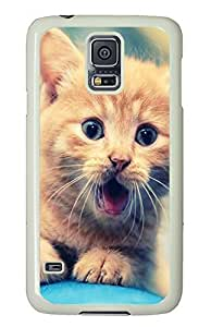 Samsung Galaxy S5 Cute Cat PC Custom Samsung Galaxy S5 Case Cover White