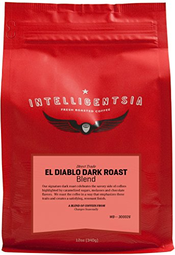 Intelligentsia El Diablo Dark Roast - 12 oz - Roasted Fresh To Order, Direct Trade, Whole Bean Coffee