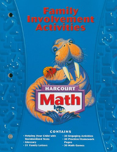 Harcourt Math: Family Involvement Activities, Grade 3 (Harcourt School Publishers Math)
