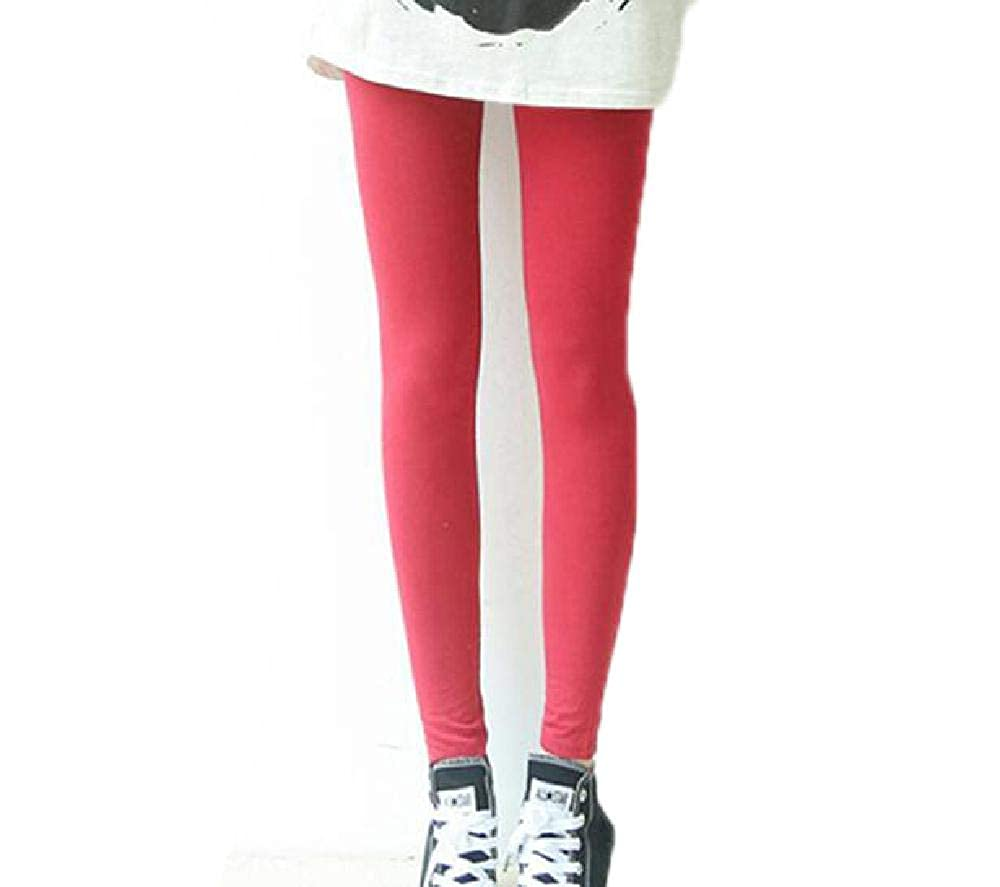 0b4da8cb2e889 Women Summer Nylon Leggings Slim Thin Casual Legging Leggins Female Mid  Waist W001 Big Red One at Amazon Women's Clothing store: