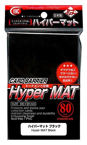 KMC Hyper Matte Sleeves Black ×5 Sets (5 Packs/total 400 Sheets) ( Japan Import ) Made in Japan