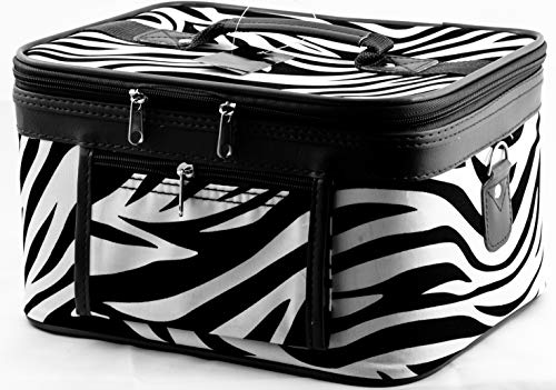 Uni Collections 2-Piece Make up Case Set (Zebra Print Black) -