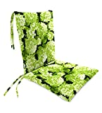 Classic Polyester Outdoor Rocking Chair Cushion with Ties, Seat Cushion 21''W Front/17''W Back x 19''D; Back Cushion 16''W x 20''L - Forest Hydrangea