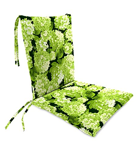 tdoor Rocking Chair Cushion with Ties, Seat Cushion 21''W Front/17''W Back x 19''D; Back Cushion 16''W x 20''L - Forest Hydrangea (Green Outdoor Rocking Chair)