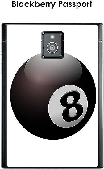 Onozo Carcasa Blackberry Passport diseño Bola de Billar N ° 8 ...