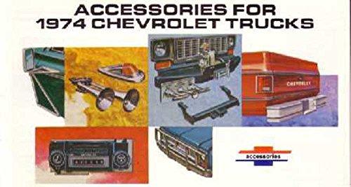- 1974 Chevrolet Truck Accessories Sales Brochure Literature Book Options