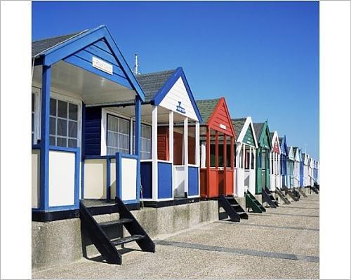 Photographic Print of Beach huts, Southwold, Suffolk, England, United Kingdom, - Europe Beach Huts