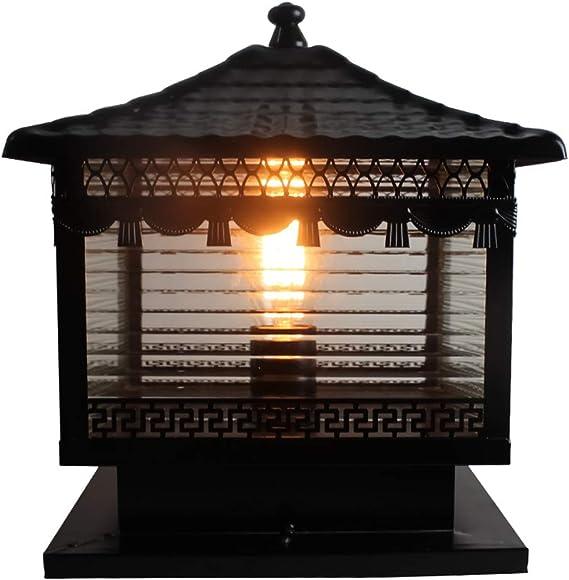 Valla columna de vidrio de la lámpara retro creativo Victoria ...