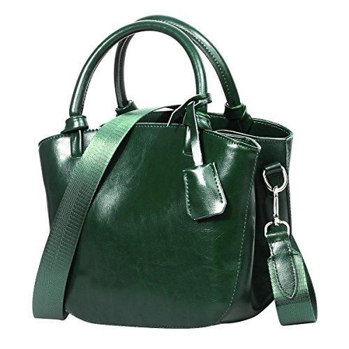 Tipo Mano Para Mujer Bolsos Marrón Autentico Hombro Cuero Color De De De Para De Bolsos Piel Bandolera Verde Señoras Shopping Bolsa Diario Bolsos 6wvAqx45w
