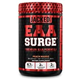 EAA Surge Premium EAA Supplement - 9 Essential Amino Acids Intra Workout Powder Supplement w/L-Citrulline, Taurine, and More for Muscle Building, Strength, Pumps, Endurance, Recovery - Peach Mango