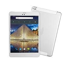 Tablet LTE, winnovo M7984G Unlocked phablet Android Quad Core 7.85pollici Single Sim (16GB ROM + 1GB RAM 1024X 768IPS schermo doppia fotocamera 3600mAh batterie WiFi Bluetooth GPS)–Argento