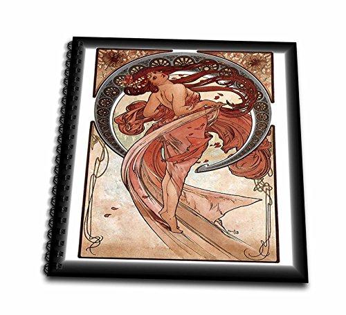 Alphonse Mucha Paintings - 3dRose Alphonse Muchas Painting Dance - Memory Book, 12 by 12-Inch (db_61776_2)